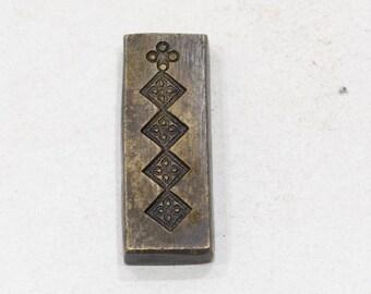 Stamp Die Mold Vintage Bronze Detailed Kuchi Jewelry