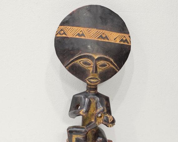 African Ashanti Figure Ghana Large Akua'bua Mother Child Fertility Doll