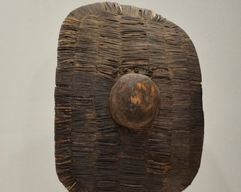 African Bantu Shield Woven Wood Congo