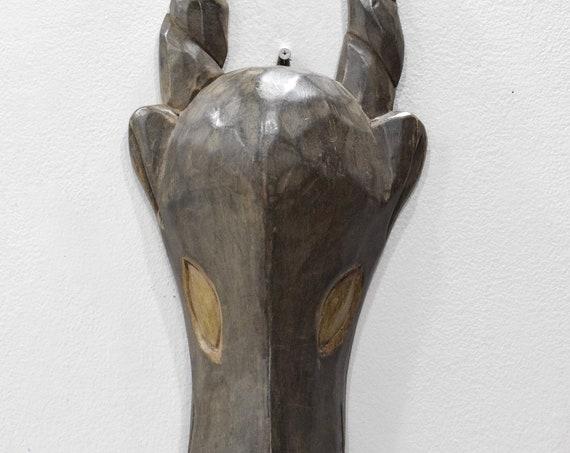 African Mask Ashanti Antelope Mask Ghana