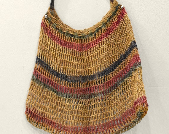 Papua New Guinea Old Bilum Woven Bag