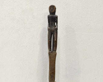 Spoon Philippines Ifuago Tribe Carved Wooden Figure Handle Spoon
