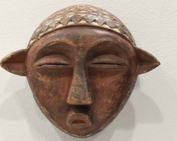 Mask African Wood Pende Mask 8""
