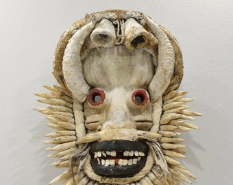 African Mask Guere Cote d'Ivorie Ritual Guere Mask