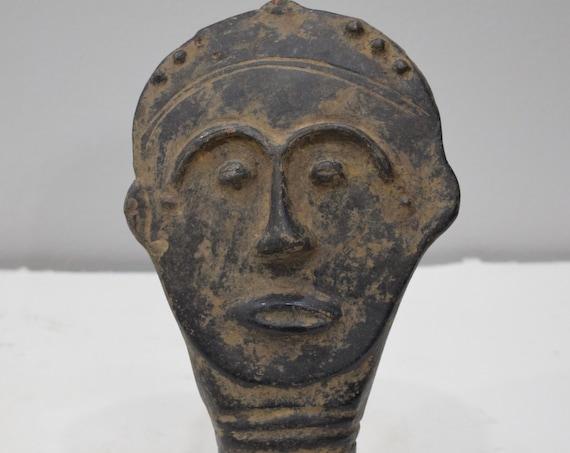 African Ashanti Terracota Memorial Head