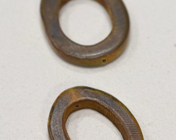 Beads Indonesian Brown Horn Rings 40mm