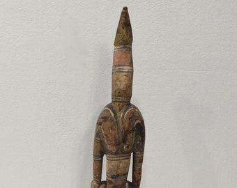 Papua New Guinea Bird Man Wood Statue