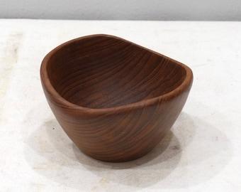 Teak Wood Bowl Hand Carved Thailand