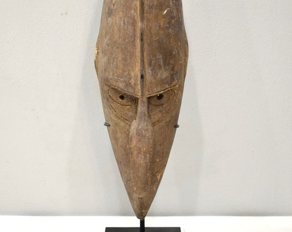 Papua New Guinea Mask Barak BoikenTribe Wood Ceremonial Barak Mask