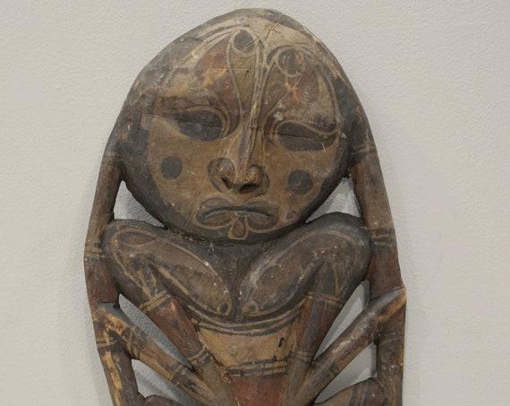 Papua New Guinea Mask Samban Ancestor Latmul Tribe Guardian Mask