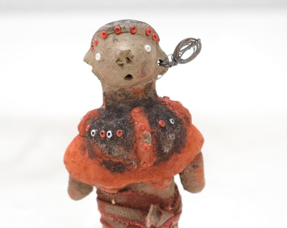 African Painted Clay Female Fertility Doll Samburu Kenya