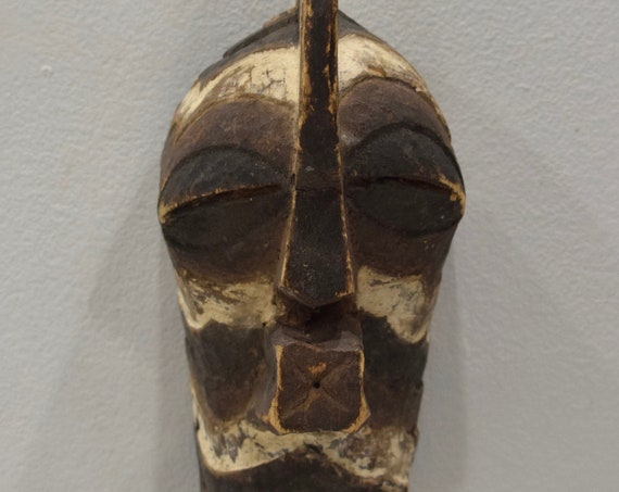 African Mask Songye Tribal Male Wood Crest Mask