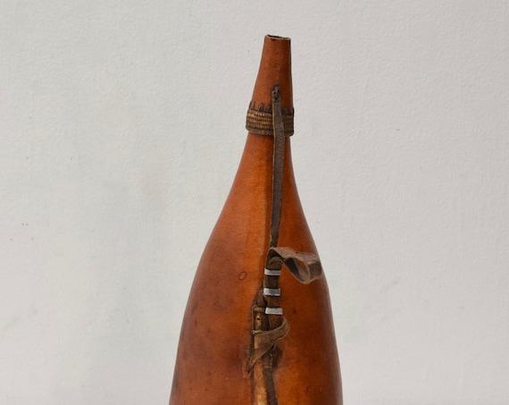 African Gourd Milk Drinking Pokot Tribe Kenya Drinking Gourd