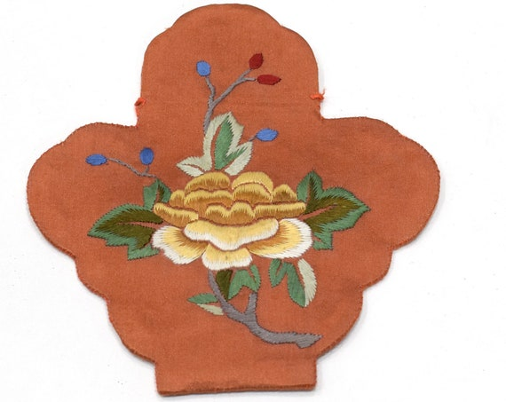 """Pouch Chinese Silk Embroidered Flower Bag 5"""""""