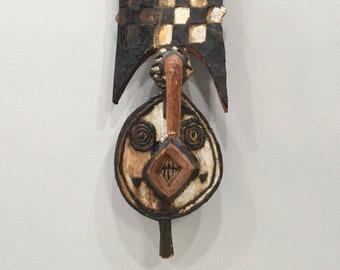 African Mossi Plank Wood Tall Mask Burkina Faso