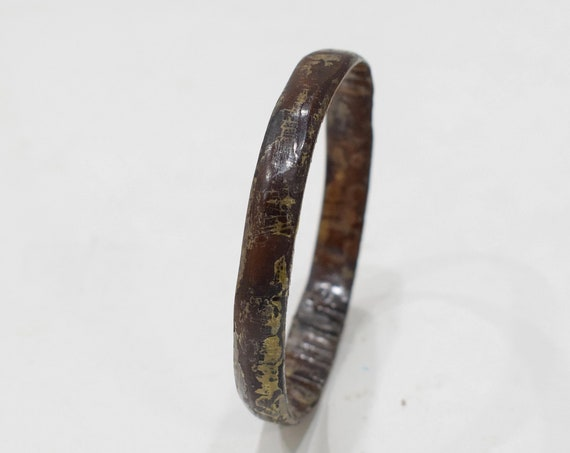 Bracelet Philippine Dark Brown Horn Bangle