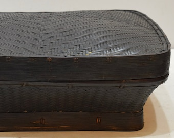 Philippines Ifugao Woven Rice Basket Handmade Tribal Rice Container Basket