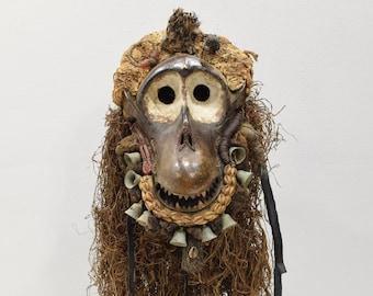 African Mask Dan Metal Animal Monkey Mask