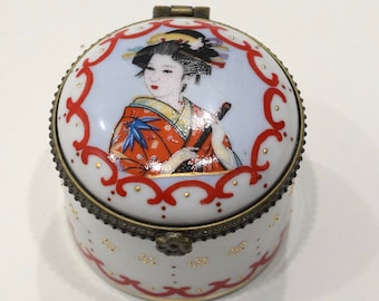 """Boxes Chinese Red Porcelain Box 2"""""""