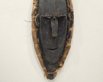 Papua New Guinea Mask Black Wood Lower Sepik River Savi Mask