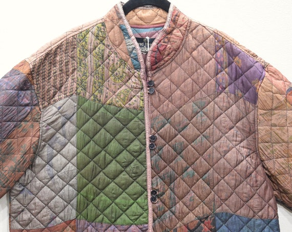 Jacket Silk Quilted Chinese Jacket