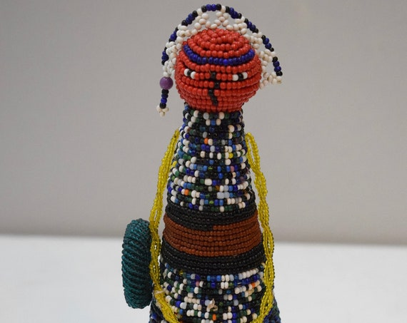African Ndebele Fertility Doll South Africa Yound Girls Beaded Instruction Initiation Womanhood Ndebele Doll