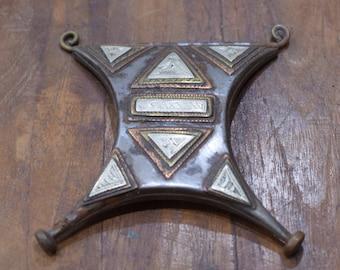 Pendant Africa Tuareg Talisman (Tcherot ) Brass Box Pendant