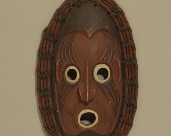 "Papua New Guinea Mask Clan Lower Sepik Ceremonial Ancestor Mask 14  1/2"""