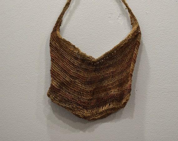 Papua New Guinea Bilum Bag Woven Fiber Purse Bilum Bag