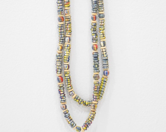 Necklace Painted Multi Colored Wood Beaded Necklaces