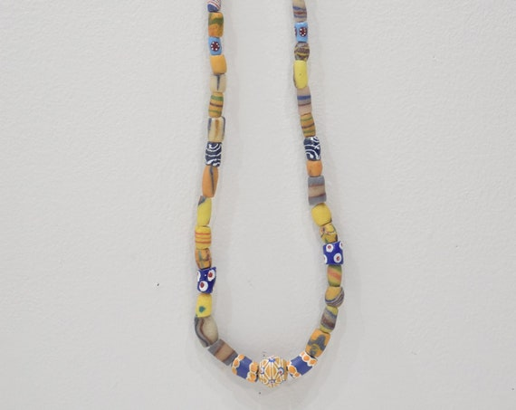 Beads African Assorted Trade Sandcast Bead Strand