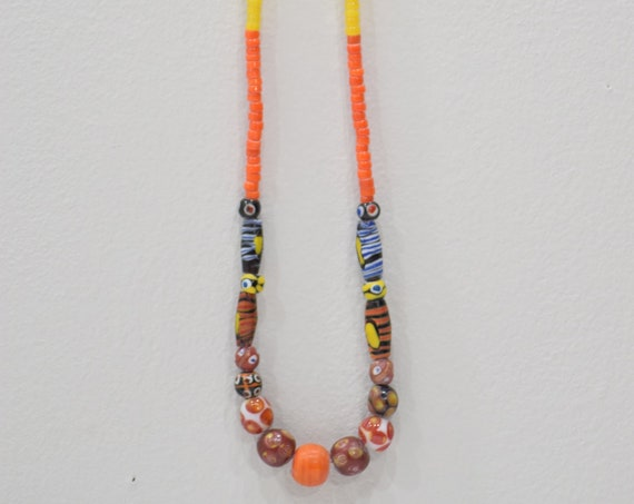 Necklace Beaded Assorted Colorful New Tribal Glass Necklaces