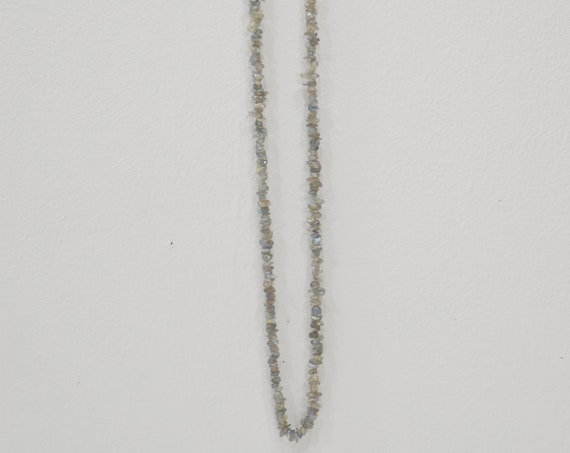 Necklace Gray Labradorite Nugget Necklace Strand