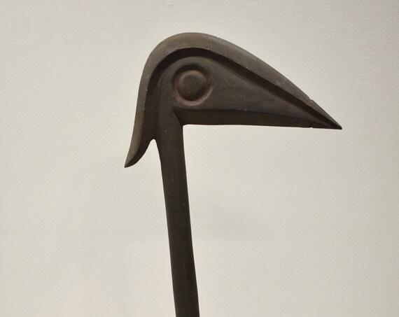 Papua New Guinea Fighting War Club Hand Carved Bird Head Highlands Fighting Club