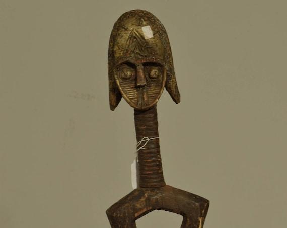 African Fang Reliquary Fetish Basket Gabon Relic Holders Sacred Handmade Brass Ancestor Medicinal Basket Herb Reliquary Basket