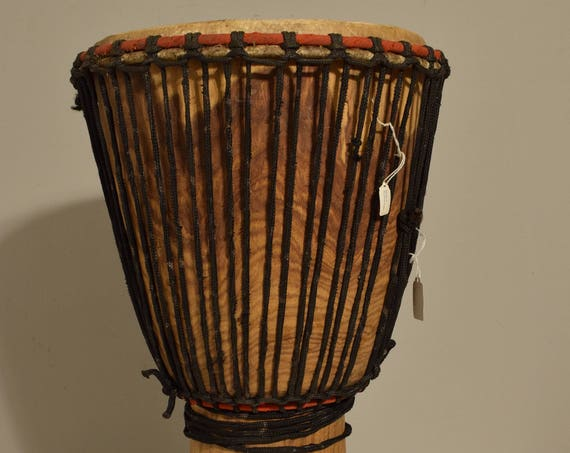 African Drum Djembe Wood West Africa Handmade Musical Vintage Community  Celebration Dancing Djembe Drum