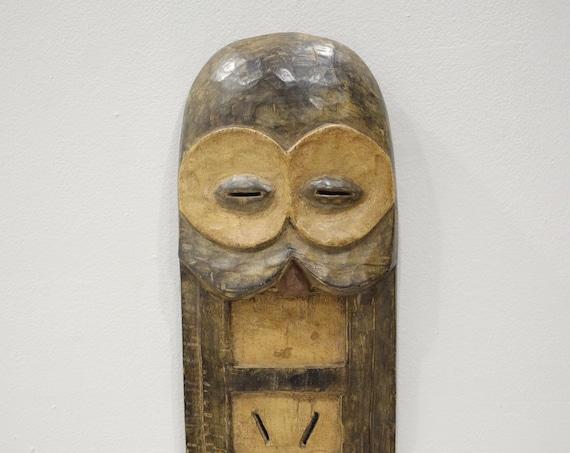 African Kwele Plank Mask Gabon Initiation Kwele Mask