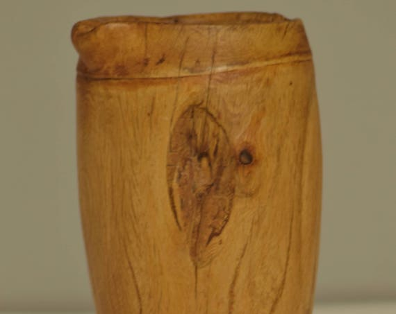 Pitcher African Potok Water Milk Wood Handmade Camel Natural Wood Drinking Pitcher