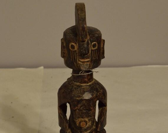 African Dogon Female Nommo Statue Mali Handmade Female Statue Ancestor Spiritual Powerful Dogon Statue