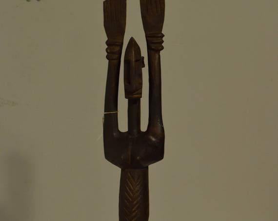 African Dogon Female Nommo Statue Mali Handmade Female Statue Ancestor Spiritual Powerful Rain Female Dogon Statue