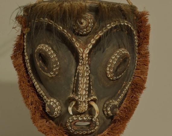 "Papua New Guinea Mask 1980's Biwat Yuat River Sacred Flute  Biwat Mask 14"""