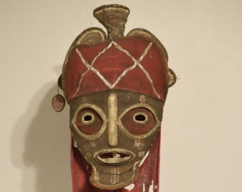 African Mask Chowke Mukanda Initiation Mask 1980