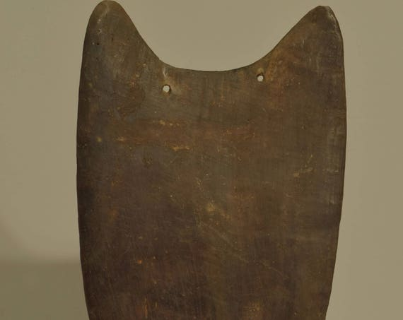 Papua New Guinea Old Shoulder Shield Wood Madnag Province Archers Shield 24""