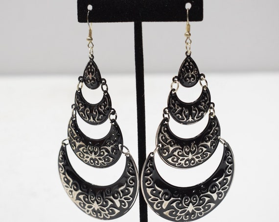 Earrings India Black Tier Earrings