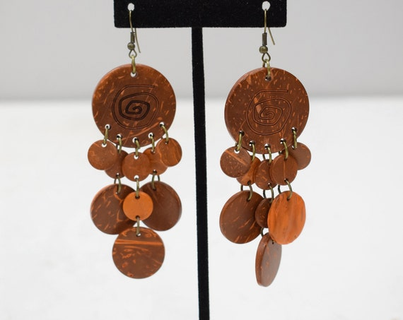 Earrings Orange Coconut Dangle Earrings