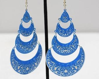 Earrings India Blue Tier Earrings