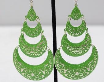 Earrings India Green Tier Earrings