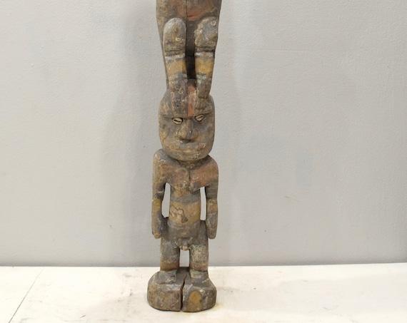 Papua New Guinea Statue Iatmul Kambot Village Bird Male Ancestor Statue