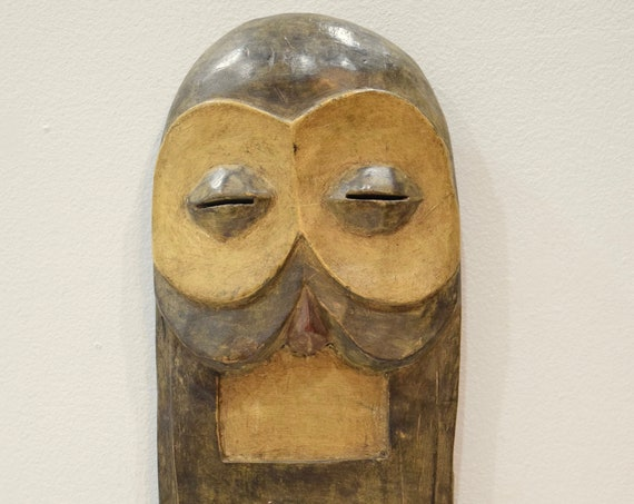 """African Bembe Wood Intiation DRC Mask 19"""""""