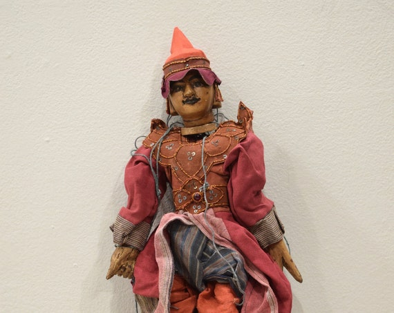Puppet Marionette Wood Burmese Puppet Folk Art